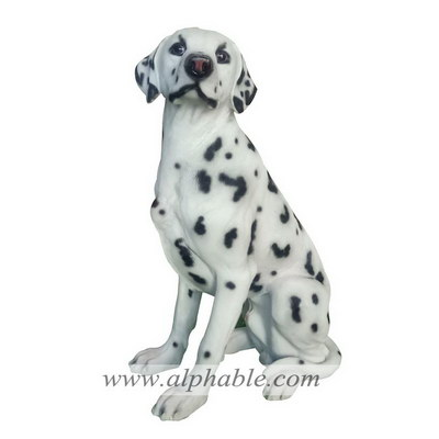Fiberglass dog garden sculpture FBA-113