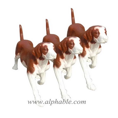 Fiberglass dog lawn ornaments FBA-115