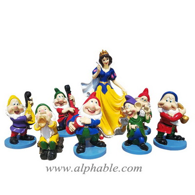 Life size snow white and the seven dwarfs sculpture FBC-028
