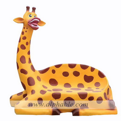 Fiberglass animal statue kids seat FBC-081