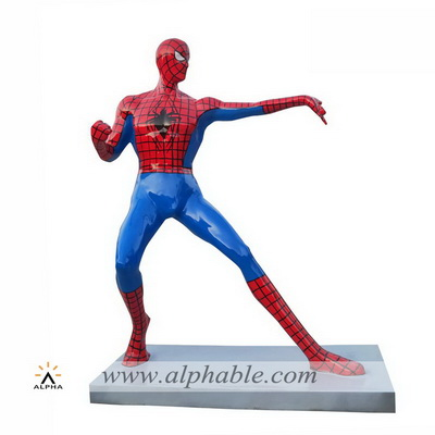 Fiberglass spider man figurative sculpture FBF-029