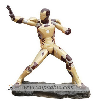 Fiberglass large size iron man sculpture FBF-039