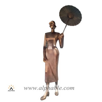 Fiberglass abstract female sculpture FBM-039