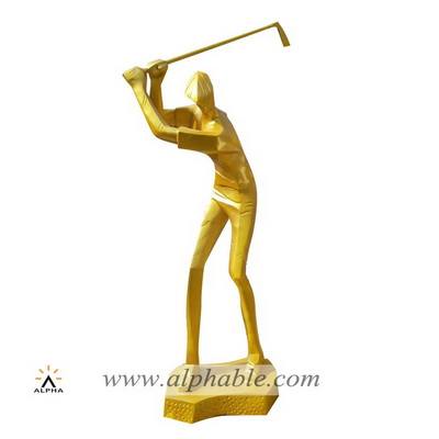 Fiberglass golf sculpture FBM-046