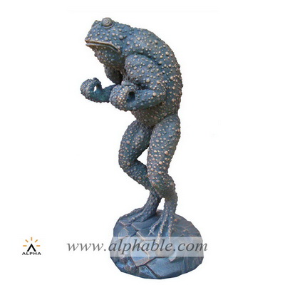 Fiberglass abstract frog sculpture FBM-049