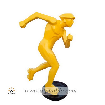 Fiberglass athletic figure sculpture FBM-050