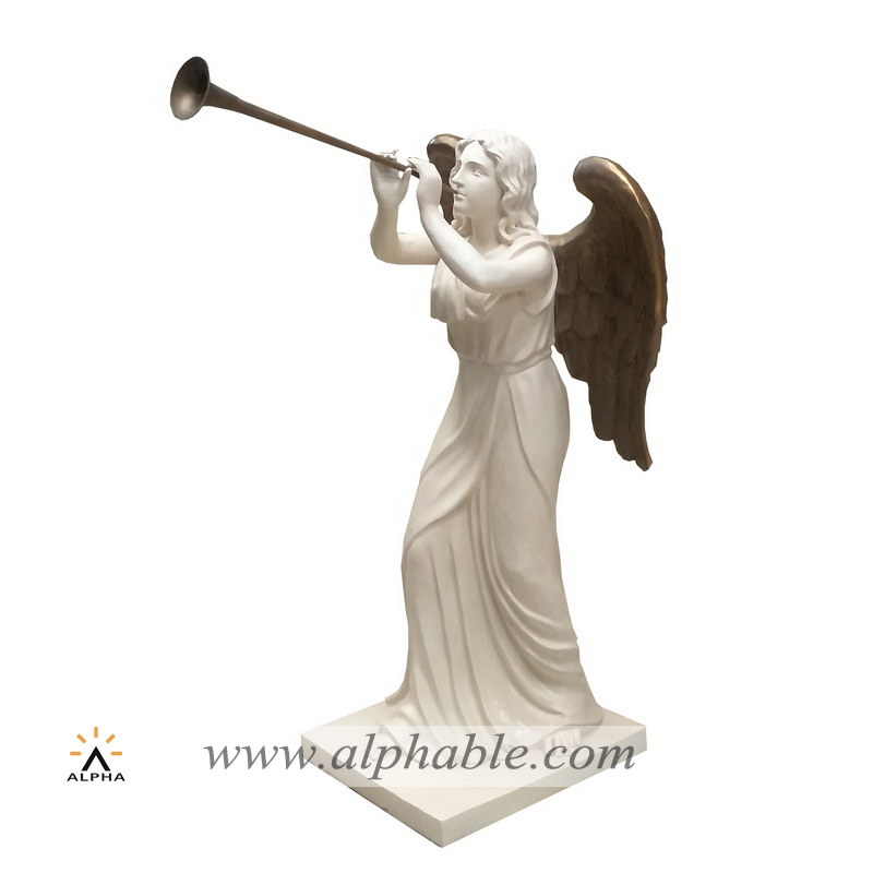 Painted gold angel statue FBF-012