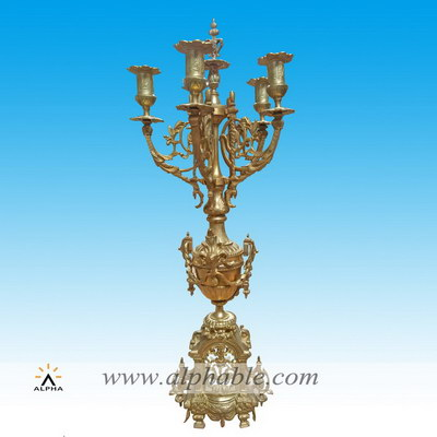 Bronze gold candle holders CCD-006