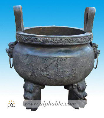 Temple use bronze incense burner CP-002