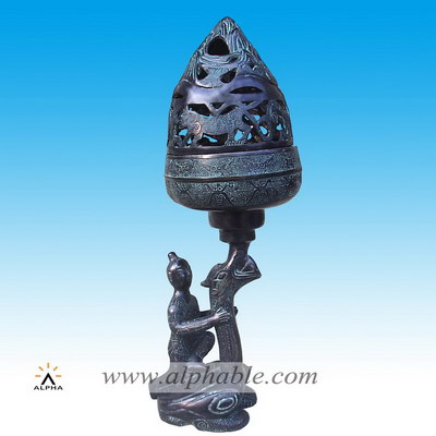 Chinese design bronze incense burner CP-004