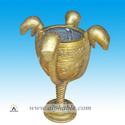 Home decor snake head design brass pots CP-005