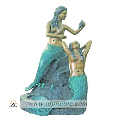 Bronze mermaid statues fountain CCF-001