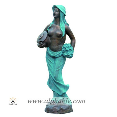 Bronze mermaid garden statue fountain CCF-002