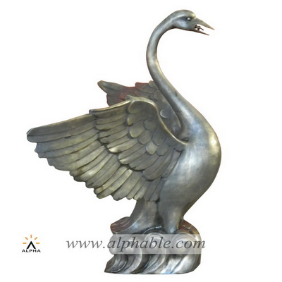 Bronze swan fountain CCF-006