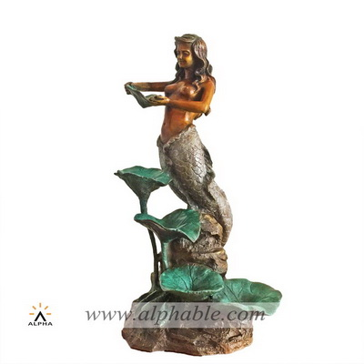 Bronze mermaid sculpture CCF-010