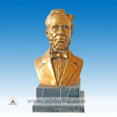 Small size brass bust of Lincoln CCS-183