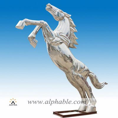 Metal horse sculpture STL-012