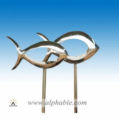 Metal fish art STL-036