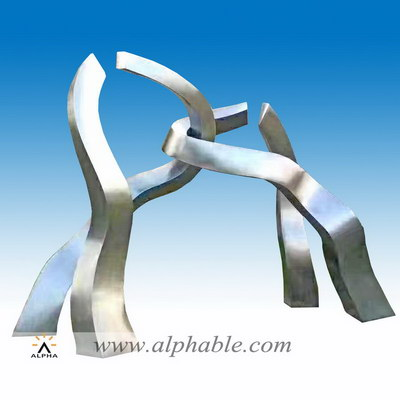 Stainless steel giant campus sculpture STL-082