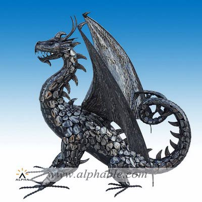 Metal dragon sculpture STL-116