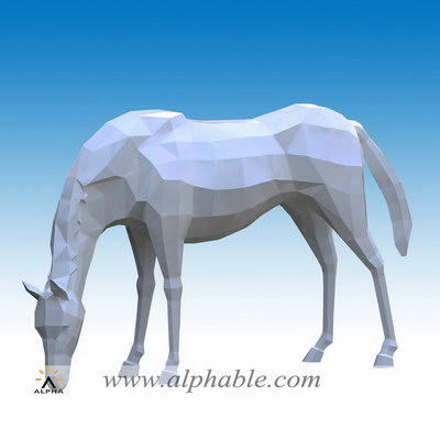 Abstract metal art horse STL-143