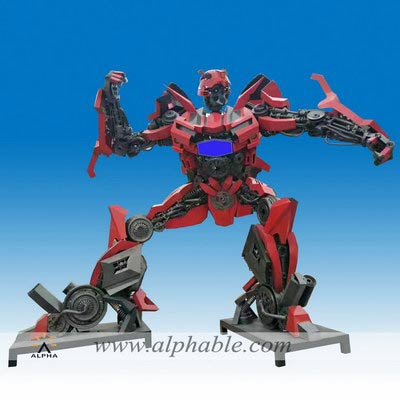 Custom metal transformers statues MTS-010