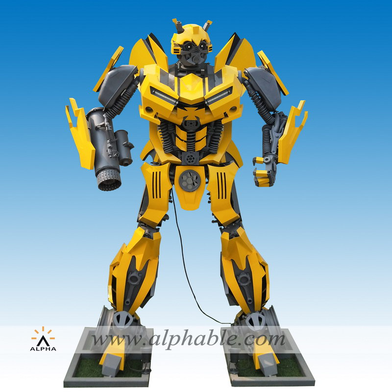 Giant metal bumblebee transformer statue MTS-006