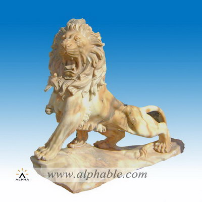 Life size walking lion sculptures SA-032