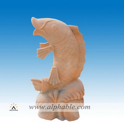 Large size marble fish sculptures SA-082