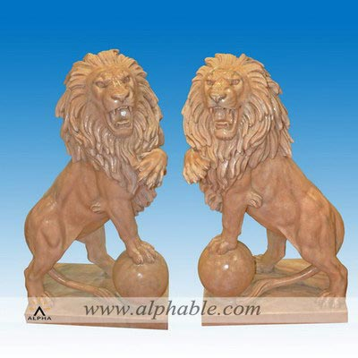 Playing ball lion statues for front door SA-083
