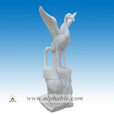 Outdoor ornament marble crane statues SA-094
