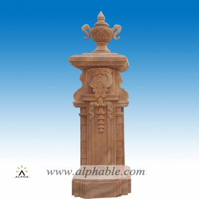 Square marble gate pillar SP-075