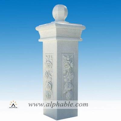 Front marble gate column SP-080