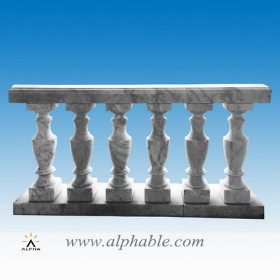 Polished marble balcony railing SP-082