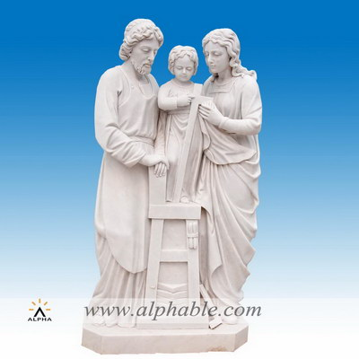 Marble holy family statue SS-344