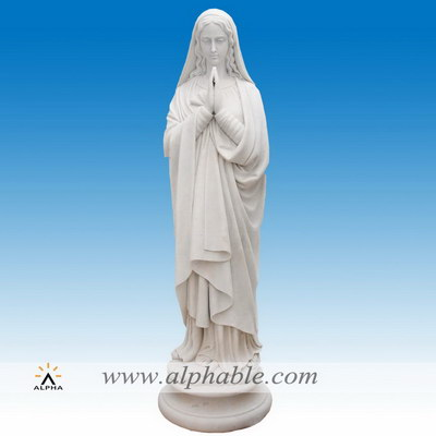 Marble Virgin Mary statue SS-345