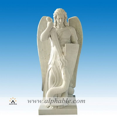 Marble St Michael statue SS-385