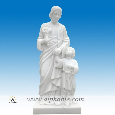 Marble Joseph with child Jesus statue SS-420