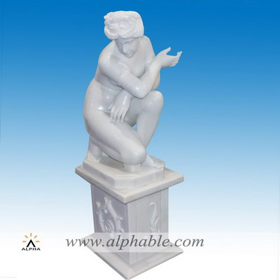Marble Greek nude sculpture SS-381