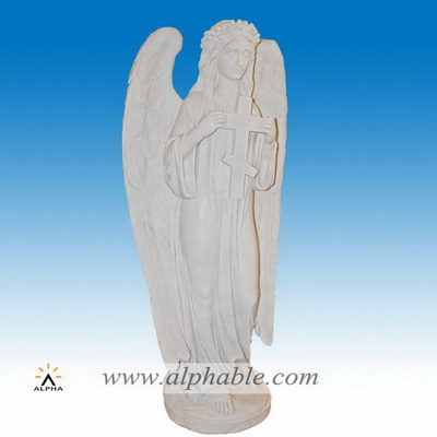 Marble white angel statue SS-348