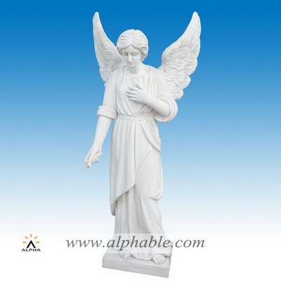 Marble angel statues for graves SS-399