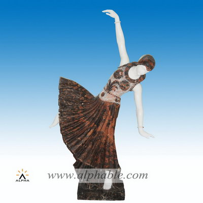 Marble dancing girl statue SS-312