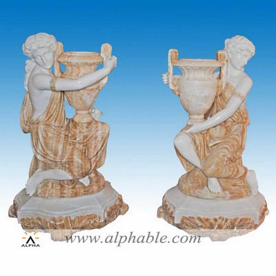 Marble welcome flower urn statue SS-330