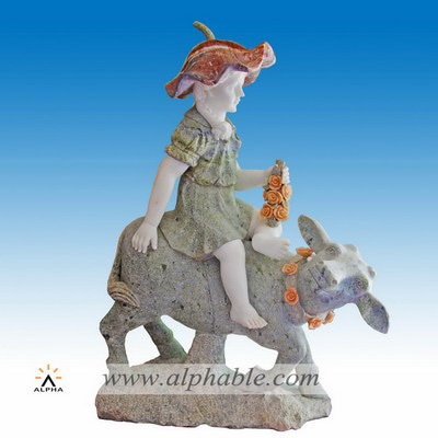 Marble garden ornament sculpture SS-338