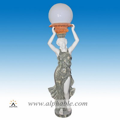 Marble statue with giant lamp SS-339