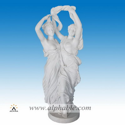 Marble tall garden sculptures SS-350