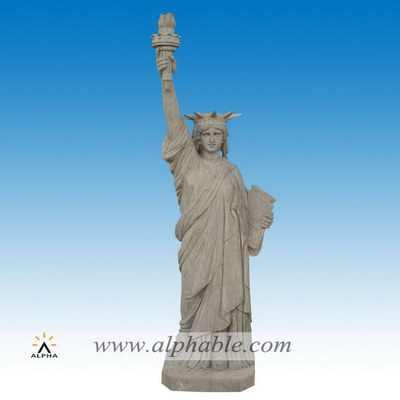 Marble lady liberty statue SS-387