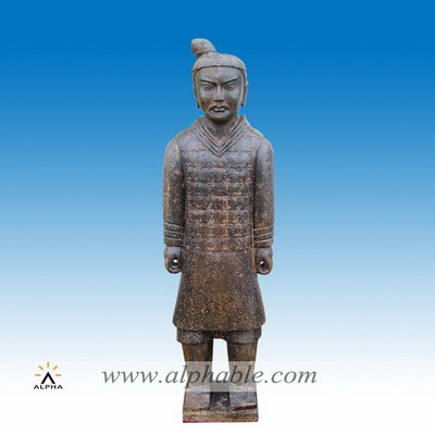 Marble Qin warrior statue SS-046