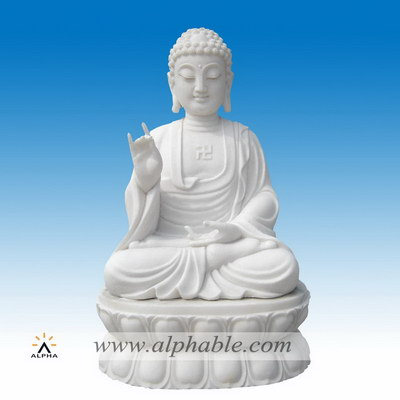 White marble Buddha sculpture SS-114