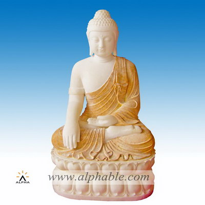 Natural marble sitting Buddha statue SS-160
